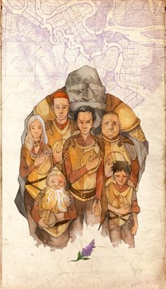 The Ankh-Morpork City Watch (Treacle Mine Road division) mourn their creator, Sir Terry Pratchett.  *sniff*   Watercolorteas.tumblr.com