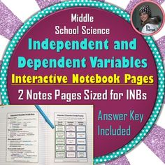 2 INB pages about independent and dependent variables for middle school science Science Facts, Science Resources, Teaching Science, Life Science, Science Experiments, Secondary Resources, Science Ideas, Science Classroom, Teaching Ideas