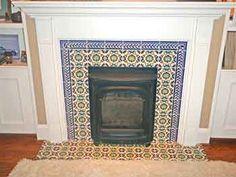 mexican tile fireplaces   Backsplash tile, decorative tile, kitchen tile - hand painted tiles