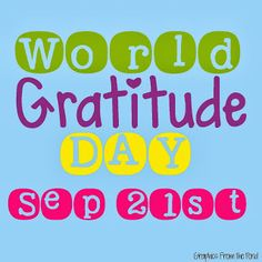 Life In Special Education: World Gratitude Day