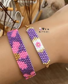 puntada ladrillo Purple 🌸 bracelet 💟 Design✂️ & Photo📸➡️Dm miyuki Related posts:Simplifying Photography: Video EditionMake Your Own Stick Alphabet Native Beading Patterns, Bead Loom Patterns, Jewelry Patterns, Bracelet Patterns, Bead Loom Bracelets, Bracelet Crafts, Funky Jewelry, Beaded Jewelry, Jewelry Shop