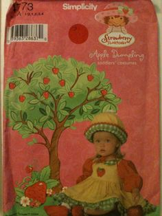 #Simplicity4773. Toddlers' Apple Dumpling costumes, size 1/2-4. Copyright 2004.