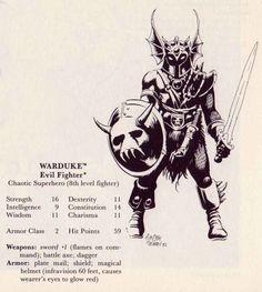 oldschoolfrp Warduke, by Timothy Truman, from D&D module XL-1:  Quest for the Heartstone, written by Michael L. Gray, TSR, 1984.