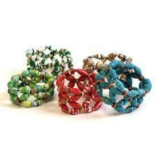 magazine bead bracelets.