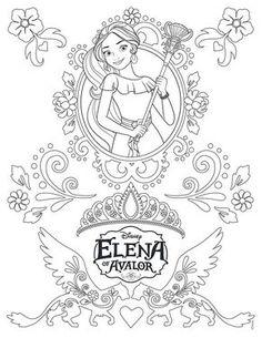 Disneys Elena Of Avalor Coloring Pages Sheet Free Disney Printable
