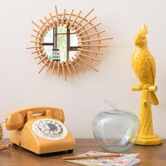 Miroir soleil en bambou D.30cm | Maisons du Monde