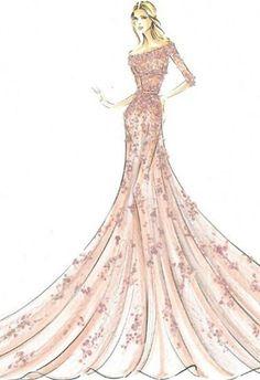 vestidos en dibujos de novia - Buscar con Google
