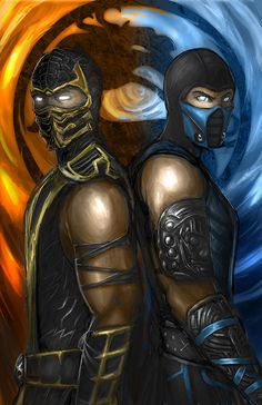 2013 update: Made sub-zero much cooler(forgive the pun) The 2 best Characters in Mortal Kombat. Fan Favorite Scorpion and Sub-Zero chose their modern ou. Mortal Kombat 9 - Fire and Ice Mortal Kombat 9, Scorpion Mortal Kombat, Claude Van Damme, Gi Joe, Video Game Art, Video Games, King Of Fighters, Fire And Ice, Marvel