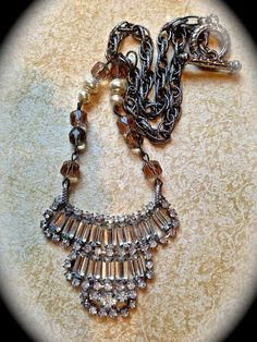 Statement rhinestone necklace. Some of JNP's jewelry makes me want to break my vintage necklaces into pieces... love this!