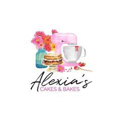Bakery Branding, Logo Branding, Branding Design, Victoria Cakes, Victoria Sponge Cake, Bakery Names, Sweet Logo, Baking Logo, Bakery Business Cards