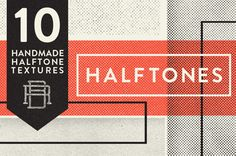 Halftone Texture Pack by Rob Brink, via Behance