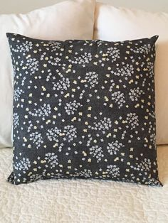 Grey - Pillow Cover - Two Daughters Desigs - Swappillow Covers - Gift - Envelope Closure - Decorative Pillow Cover - 16x16 - Throw Pillow by KathyRyanDesigns on Etsy