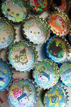 kawaii bottlecap project @Lydia Squire Squire Squire Dibben              / embellishment