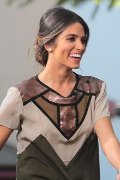 Nikki Reed's sleek up-do - celebrity hair and hairstyles