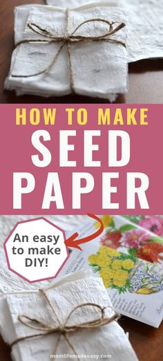Learn how to make your own DIY seed paper using organic toilet paper and heirloom seeds perfect for planting. This easy craft makes a great gift and is fun for kids too! Fun Crafts For Kids, Diy For Kids, Crafts To Make, Easy Crafts, Easy Diy, Paper Gifts, Diy Paper, Homemade Gifts, Diy Gifts