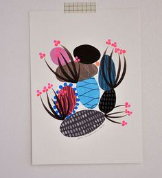 These abstract, organic illustrations were created by Ana Raimundo, aPortugal-based artist who, among other things, is inspired by people's portraits and expressions, native nature, traditions, patterns, and textures. Ana also has an Etsy shop where quite alarge body of her work is for sale, including prints, journals, embroidered hoops and original illustrations.