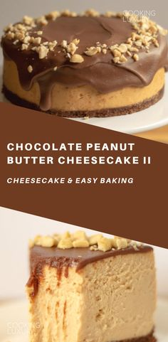 Simple ingredients and delicious taste. The post Chocolate Peanut Butter Cheesecake II appeared first on Food Monster. Chocolate Peanut Butter Cheesecake, Peanut Butter Desserts, Healthy Cake Recipes, Dessert Recipes, Healthy Food, Dessert Food, Food Menu, Healthy Meals, Healthy Eating