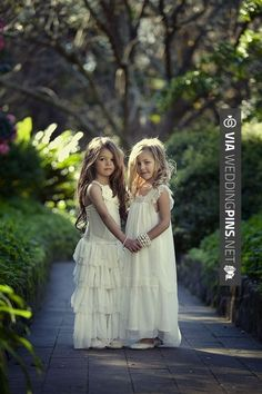 Neato - vintage flower girl dresses. How adorable. I want two flower girls! | CHECK OUT MORE GREAT FLOWER GIRL AND RING BEARER PHOTOS AND IDEAS AT WEDDINGPINS.NET | #weddings #wedding #flowergirl #flowergirls #rings #weddingring #ringbearer #ringbearers #weddingphotographer #bachelorparty #events #forweddings #fairytalewedding #fairytaleweddings #romance