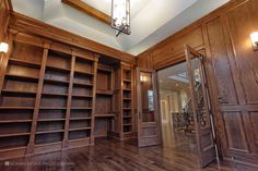 Study room - huge traditional built-in desk medium tone wood floor study room idea in Toronto with brown walls and no fireplace Study Rooms, Built In Desk, Brown Walls, Design Studio, Home Office Design, Luxury Homes, Traditional, Contemporary, Architecture