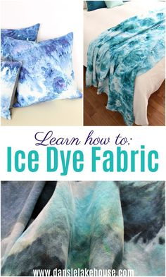 Diy Sewing Projects, Sewing Projects For Beginners, Sewing Tutorials, How To Dye Fabric, Dyeing Fabric, Ice Tie Dye, Sew Your Own Clothes, Tie Dye Colors, Ice Dyeing