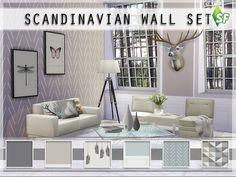 Scandinavian Wall Set by SimFabulous at TSR • Sims 4 Updates