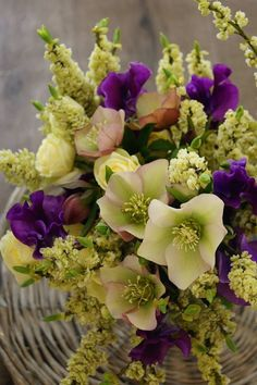 Flower Basket, Fresh Flowers, Floral Arrangements, Bloom, Spring, Nature, Plants, Inspiration, Bouquets