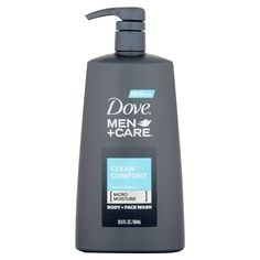 Dove Men+Care Body and Face Wash Pump For Healthier and Stronger Skin Clean Comfort More Moisturizing Than Typical Bodywash oz Face Wash, Body Wash, Dove Men Care, Anti Dandruff Shampoo, Shower Routine, Thick Skin, Skin Cleanse, Body Soap, Homemade Face Masks