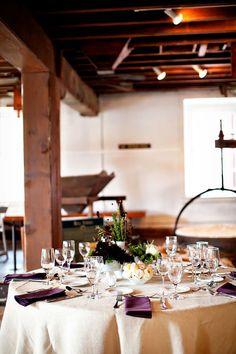 Table Setting: Purple napkins