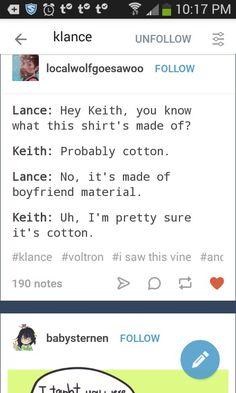 NO YOURE COTTON
