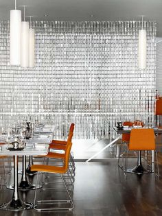 Modern Restaurant Interior With Glass Curtain Partition #WorkspaceVision #spaceswelove #hospitality
