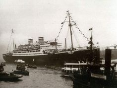 This picture dated June 1939 shows the M.S. St. Louis in Havana, Cuba. The St. Louis carried 930 Jewish refugees from Nazi Germany to Cuba where all but 22 denied landing. After being refused refuge in the U.S., the ship returned to Europe where the refugees were scattered in Great Britain, Belgium, France and the Netherlands. Many of the passengers who were not in Britain were ultimately rounded up and sent to concentration camps.