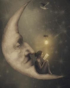 Surrealism Photography with a Gothic Influence Reading a book on the moon. Surrealism Photography with a Gothic Influence. By Erika Marie. The post Surrealism Photography with a Gothic Influence appeared first on Fotografie. Surrealism Photography, Art Photography, Landscape Photography, Gothic Photography, Levitation Photography, Exposure Photography, Winter Photography, Night Photography, Landscape Photos