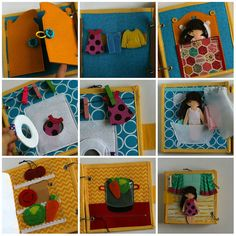 Little Dollhouse quiet book with felt paper doll