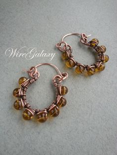 Items similar to Copper earrings Droplets of Honey Wire wrapped jewlelry Boho earrings Tribal Gift for her Hoop earrings OOAK earrings Wire wrap earrings on Etsy Wire Jewelry Earrings, Wire Wrapped Earrings, Copper Earrings, Copper Jewelry, Boho Earrings, Boho Jewelry, Gemstone Jewelry, Jewelry Gifts, Gold Jewellery
