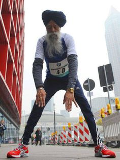 100 years old. second marathon of the month. frankfurt, germany.