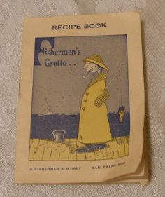 Vintage Fishermen's Wharf Recipe Book Souvenir by WhiteShepherd, $6.00
