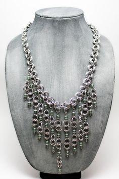 Aluminum Cascade Necklace with Mint Green by EchelonsOfElliott, $75.00