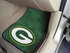 Green Bay Packers carpet car mat