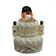 Little Scrub Lady Bug 2 Tier Organic Diaper Cake - http://www.247babygifts.net/little-scrub-lady-bug-2-tier-organic-diaper-cake/