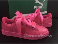 d08a0aeb6acd87 Puma Suede Basket Heart Satin Pink