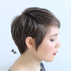 Short Layered Haircut For Brunettes