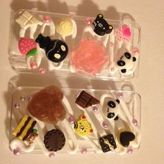 Super cute icing-design decoden iPhone cases by BobaMilkShop