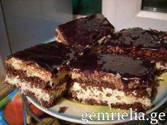 შოკოლადის და ქოქოსის ტორტი