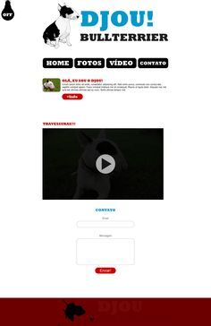 Layout Web for Djou Bullterrier