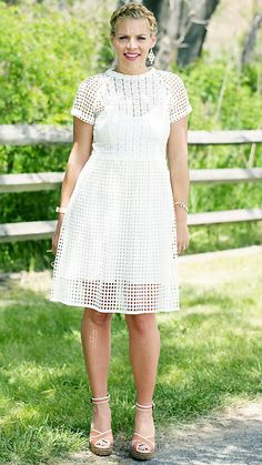16 Street Style Stars in Little White Dresses (LWDs) - Busy Philipps from #InStyle