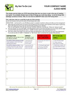 Have clients who have trouble sticking to their goals and/or managing their time? This coaching exercise with a twist helps your clients look at what they could stop doing in order to better reach their goals. http://www.thecoachingtoolscompany.com/products/my-not-to-do-list/
