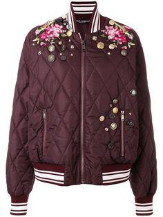 Купить Dolce & Gabbana куртка-бомбер с вышивкой .