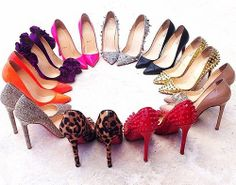 Ring of Pigalles. Christian Louboutin i think ive died and gone to heaven! Stilettos, Pumps, High Heels, Christian Louboutin, Louboutin Shoes, Crazy Shoes, Me Too Shoes, Walk This Way, Red Bottoms