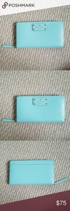 Kate Spade Wellesley zip wallet MINT Mint zip around wallet with lots of space Kate Spade Bags Wallets