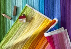 Rainbow Jellyroll Quilt Top with Heather Jones on Creativebug @Heather Jones